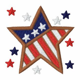 Patriotic USA stars men's embroidered t-shirt