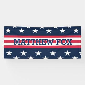 Patriotic USA Stars Stripes Customize Banner