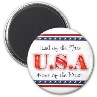 Patriotic USA stars stripes patriotism Magnet