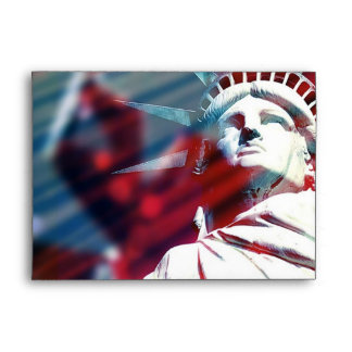 Patriotic USA Statue of Liberty Flag Envelope