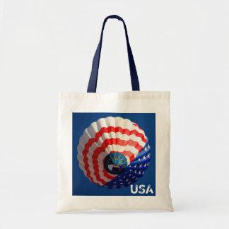 Patriotic USA Tote - Hot Air Balloon Canvas Bags