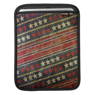 Patriotic USA Weathered Stars and Stripes Military Sleeves For iPads