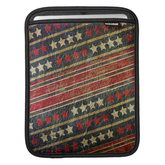 Patriotic USA Weathered Stars and Stripes Military iPad Sleeve