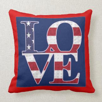 Patriotic Valentine's Day Throw Pillow