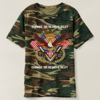 Patriotic Veteran Men's Camouflag view notes below T-shirt
