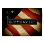 PATRIOTIC - VETERANS DAY - WEATHERED FLAG GREETING CARD