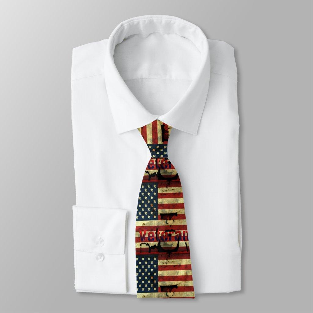 Patriotic Veterans Men's Tie