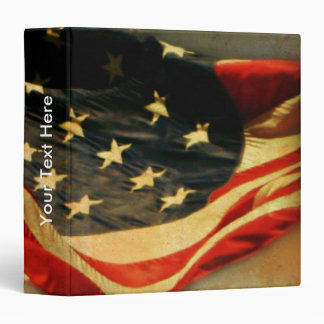 Patriotic Vintage American Flag 3 Ring Binder