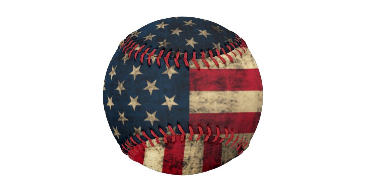 Patriotic Vintage American Flag Baseball Zazzle
