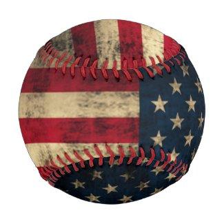 Patriotic Vintage American Flag Baseballs