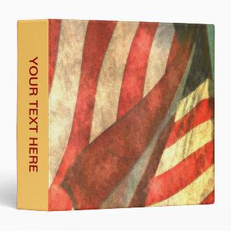 Patriotic Vintage American Flag Binder