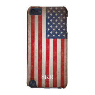 Patriotic Vintage American Flag Monogrammed Case iPod Touch 5G Case