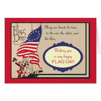 Patriotic Vintage Flag Day, Hoisting of the Flag Card