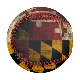 Patriotic Vintage Flag of Maryland Baseball
