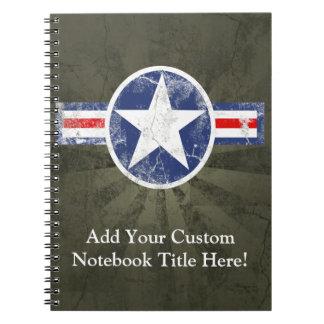 Patriotic Vintage Military USA Star Notebook