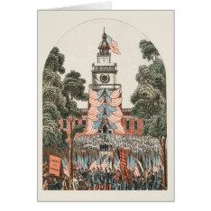 Patriotic Vintage Us Flags 1894 Christmas Card at Zazzle
