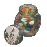 Patriotic Vintage US Flags 1894 Glass Candy Jar at Zazzle