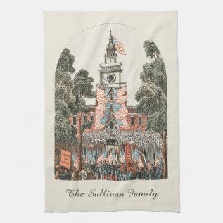 Patriotic Vintage Us Flags 1894 Hand Towel at Zazzle