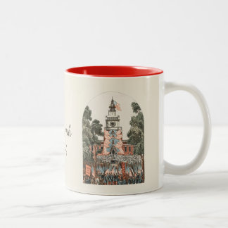 Patriotic Vintage US Flags 1894 Two-Tone Coffee Mug