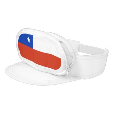 Patriotic visor with flag of Chile