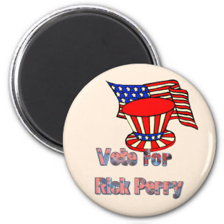 Patriotic vote for RIck Perry 2 Inch Round Magnet