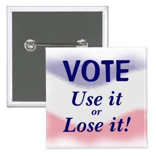 Patriotic Vote Political Button