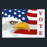 """Patriotic Vote Yard Sign<br><div class=""""desc"""">Yard sign shown with a patriotic vote USA flag and eagle print. Customize this item or buy as is.</div>"""