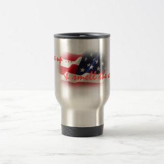 Patriotic Wake Up & Smell the Coffee Travel Mug