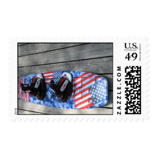 Patriotic Wakeboard Stamp