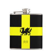 Patriotic Wales Dragon St Davids Hip Flask at Zazzle