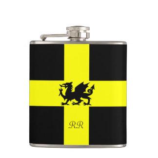 Patriotic Wales Dragon St Davids Hip Flask
