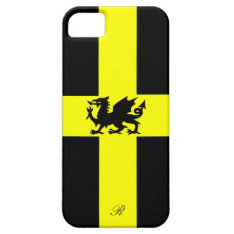 Patriotic Wales Dragon Yellow Black Iphone 5 Case at Zazzle