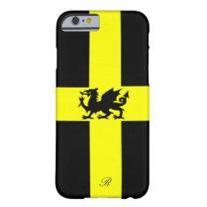 Patriotic Wales Dragon Yellow Black Iphone 6 Case at Zazzle