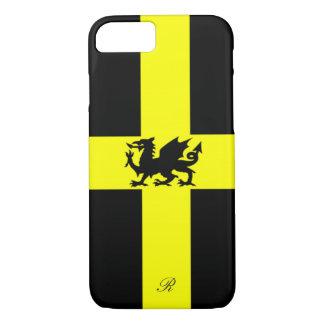 Patriotic Wales Dragon Yellow Black iPhone 7 Case