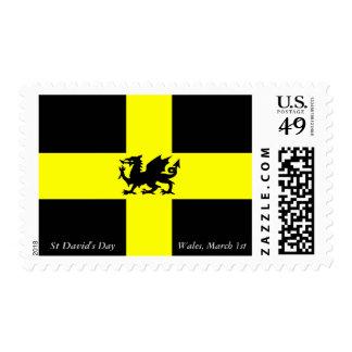 Patriotic Wales St Davids Daffodil Yellow Stamp