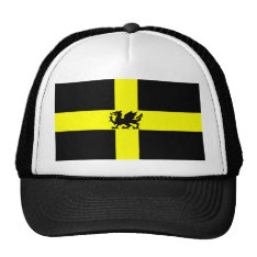 Patriotic Wales St Davids Day Dragon On Hat at Zazzle