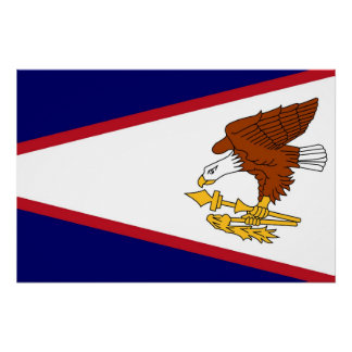 Patriotic wall poster with Flag of American Samoa