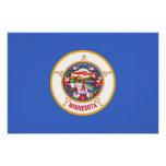 Patriotic wall poster with Flag of Minnesota Perfect Poster