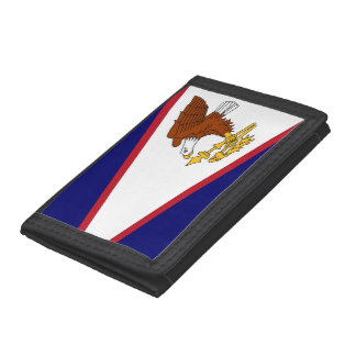 Patriotic wallet with Flag of American Samoa