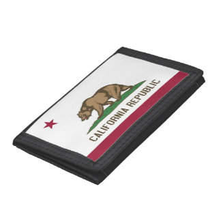 Patriotic wallet with Flag of California