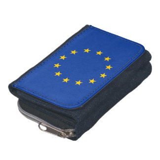 Patriotic wallet with Flag of European Union