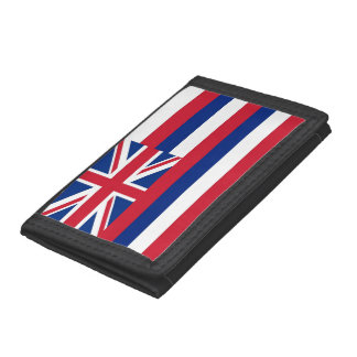 Patriotic wallet with Flag of Hawaii