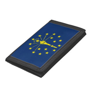 Patriotic wallet with Flag of Indiana