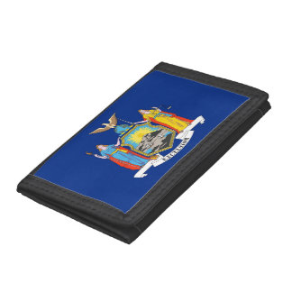 Patriotic wallet with Flag of New York
