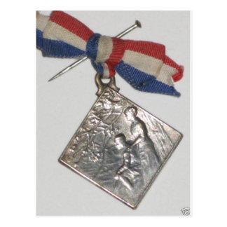 """""""Patriotic War Medal - France"""" Postcard"""