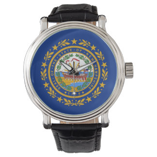 Patriotic watch with Flag of New Hampshire
