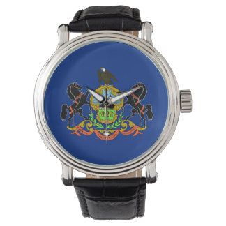 Patriotic watch with Flag of Pennsylvania