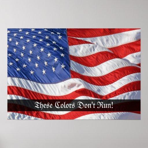 Patriotic Waving American Flag Art Print