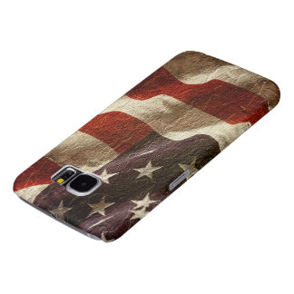 Patriotic Waving American Flag  Carved in Stone Samsung Galaxy S6 Cases