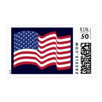 Patriotic Waving American Flag Stamp